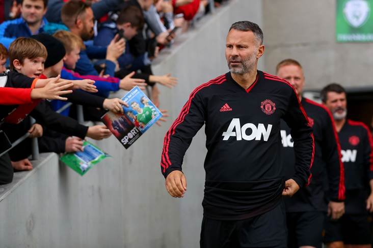36b7521657 Wales manager and Manchester United legend Ryan Giggs walks out onto the  Pairc Ui Chaoimh pitch